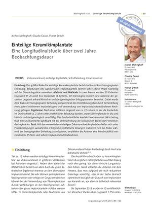 Dr. Jochen Mellinghof, Dr. Claudio Cacaci, Dr. Florian Detsch