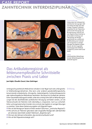 Dr. Jan Hajtó (München), Dr. Claudio Cacaci, Zahntechnik ZTM Uwe Gehringer (München)